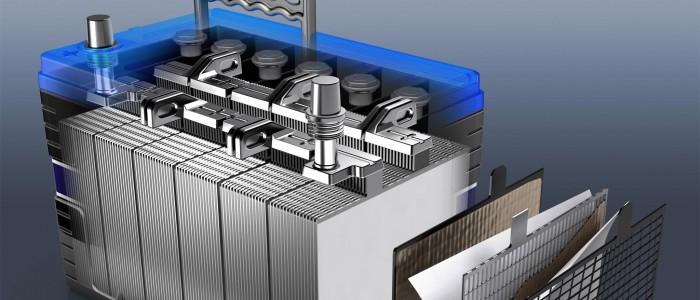 Slider Exide Edge Battery 3D Cutaway