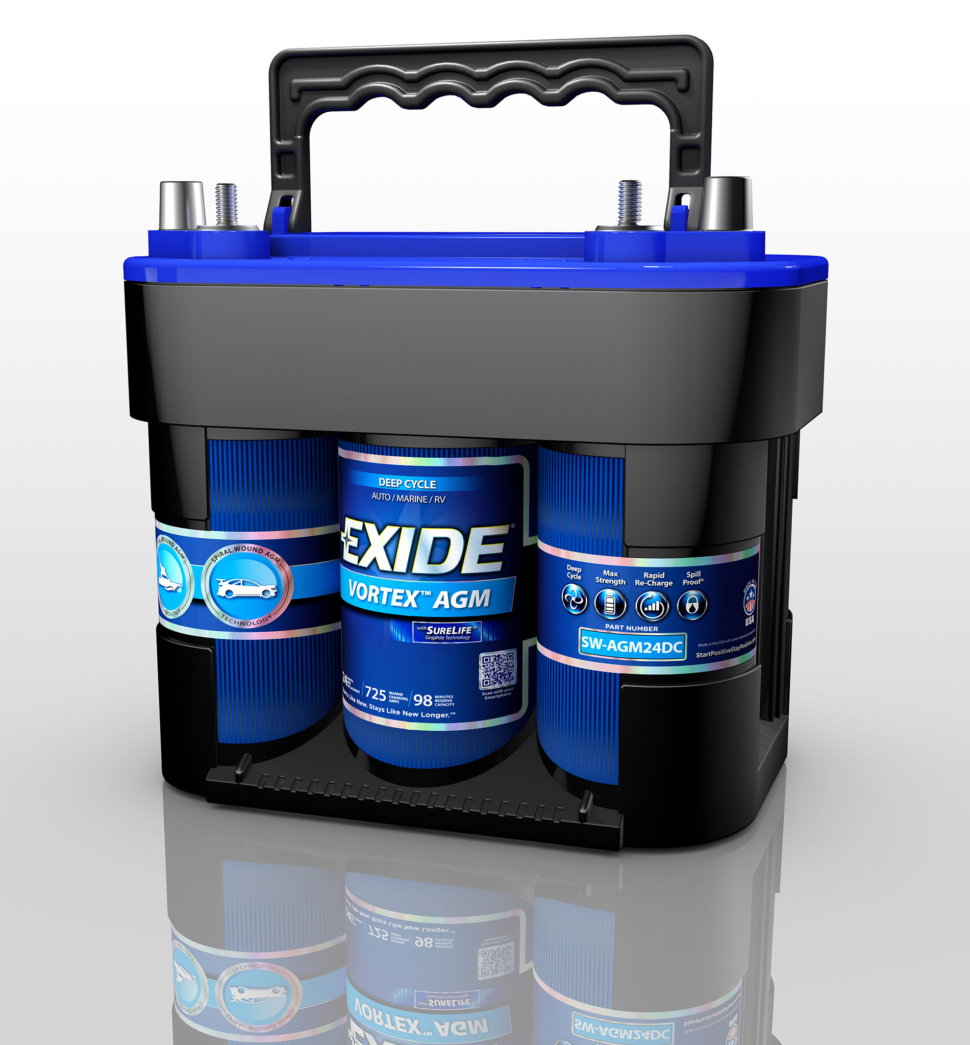 Exide Vortex Deep Cycle Battery