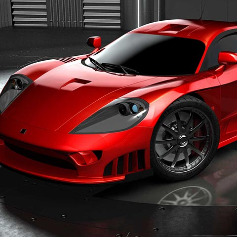 3D Illustration of a Saleen S7.