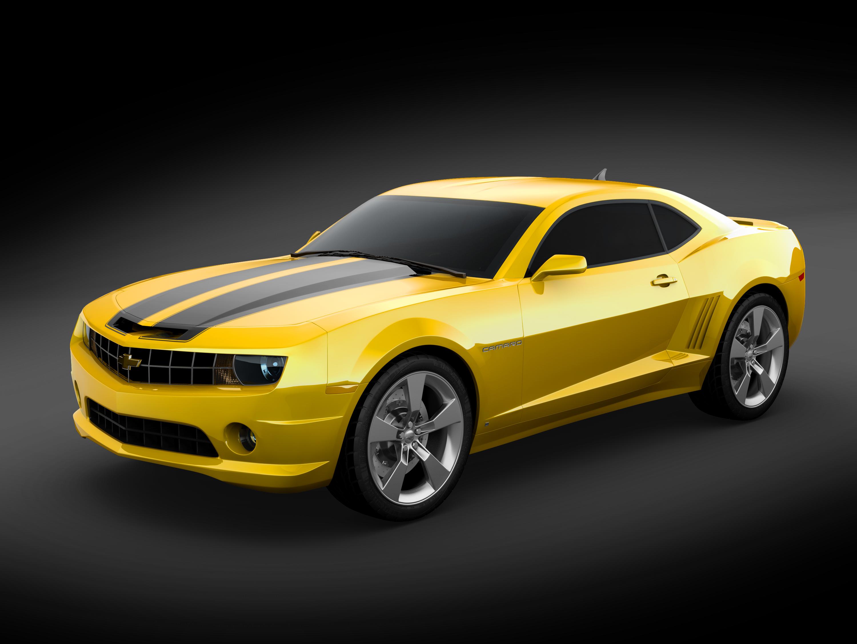 Yellow Chevy Camaro
